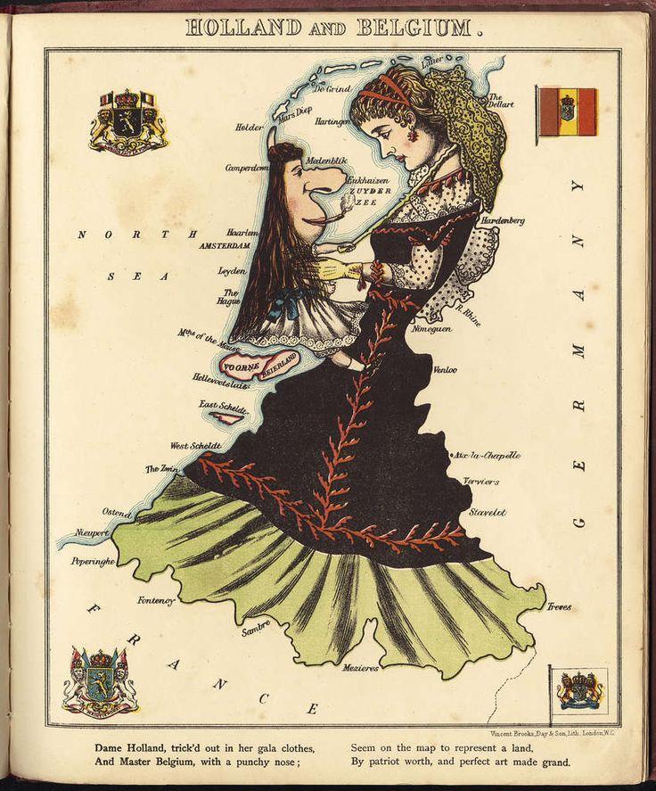 Geographical Fun | William Harvey Holland & Belgium map, 1869