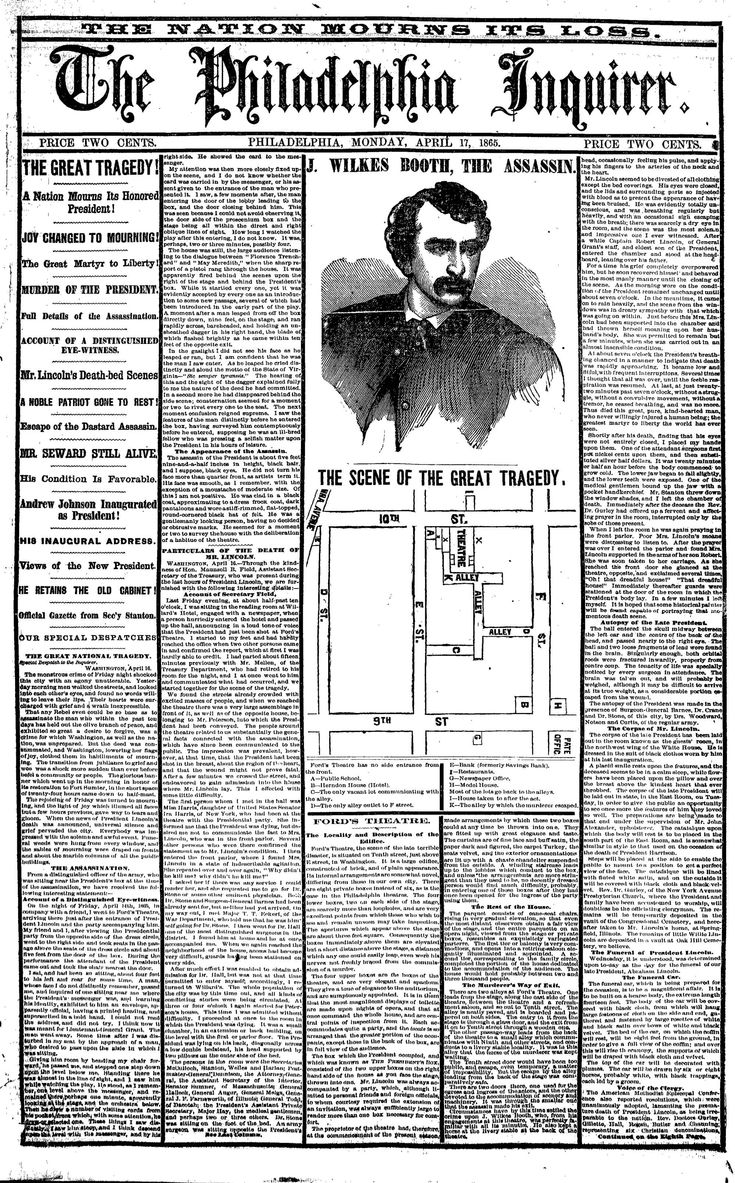 a history of the lincoln assassination in the united states Assassination of abraham lincoln: assassination of abraham lincoln, murderous attack on abraham lincoln, the 16th president of the united states, at ford's theatre in washington, dc, on the evening of april 14, 1865.