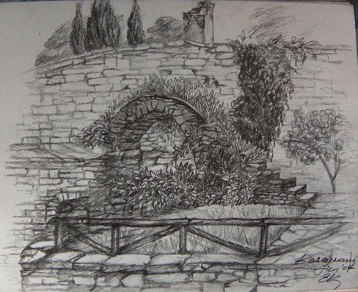Σχέδιο από την μονή Καισαριανής (μολυβι)
