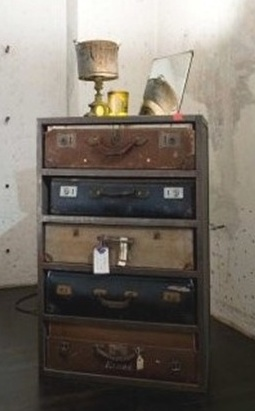 What A Marvelous Idea Suitcase Chest Of Drawers Frame Built To House The Suitcases