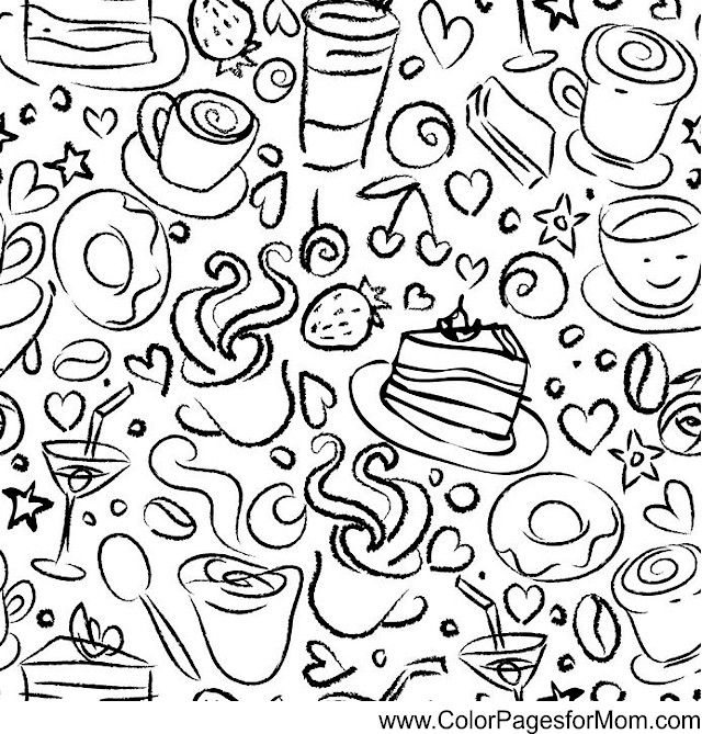 Coffee Coloring Page 19