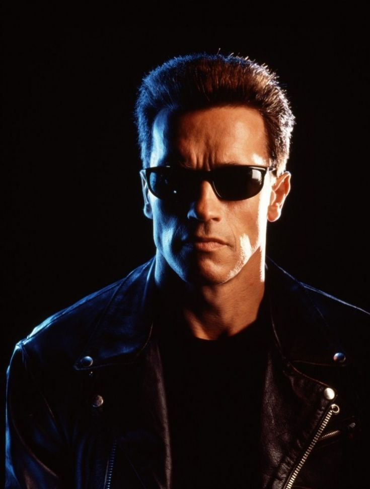 "Arnold Schwarzenegger as The Terminator (T-800) in ""The Terminator"" (1984) and ""Terminator 2: Judgment Day"" (1991)"
