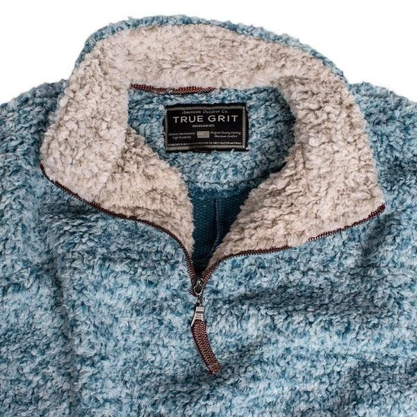 Frosty Tipped Pile 1/2 Zip Pullover   True Grit - Tide and Peak  100% mimms approved