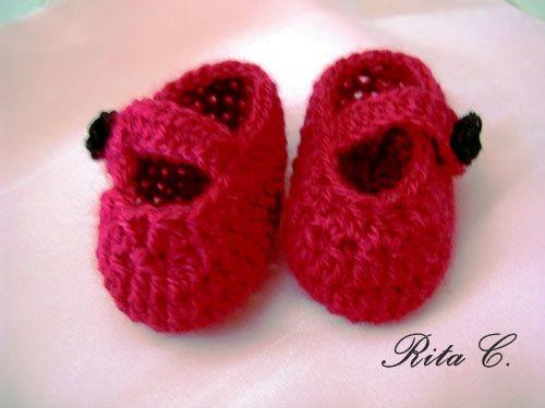 Creazioni Rita C. ... Only Handmade!: Scarpine Little Dolly con Spiegazioni in Italiano