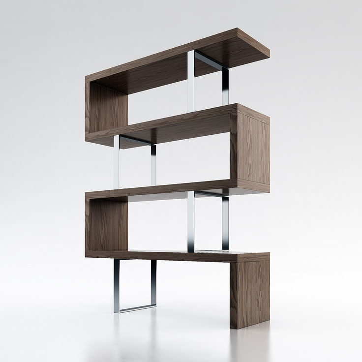 Walnut Bookcase by Ted Toledano: Decor, Wood Bookca, Idea, Pearls Bookcases, Shelves, Modern Bookcases, Modloft Pearls, Furniture, Products