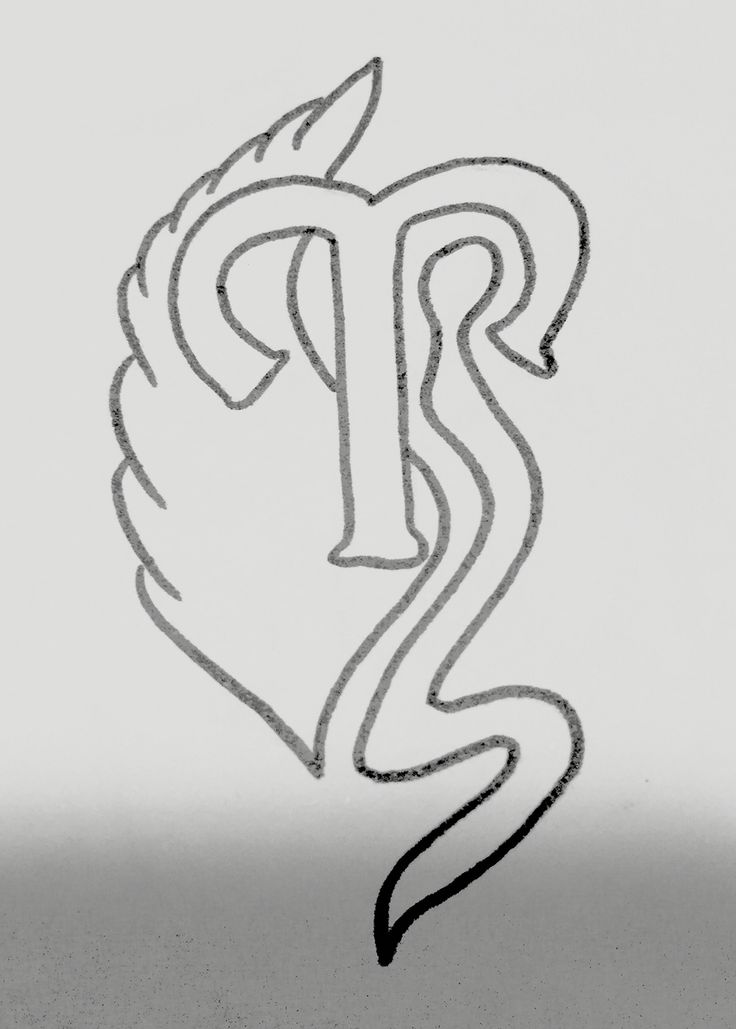 Design for Aries tattoo.  Complete with wings of an angel.