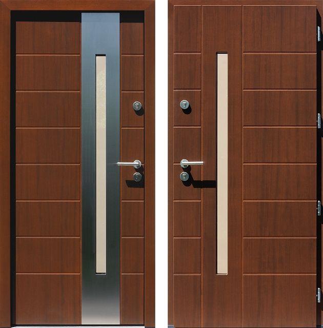 Drzwi wejściowe do domu z katalogu inox wzór 475,2-475,12