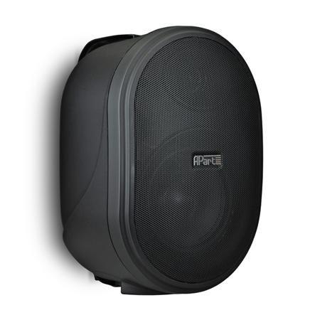 APart Apart OVO5 Black  — 4831 руб. —  Настенный громкоговоритель, предназначенный для озвучивания небольших и средних помещений (офисы, кафе, магазины и др). Динамики: 1  ВЧ и 5,25  СЧ/НЧ, сопротивление: 8 Ом, частотный диапазон: 70 Гц - 20 кГц, чувствительность: 91 дБ.