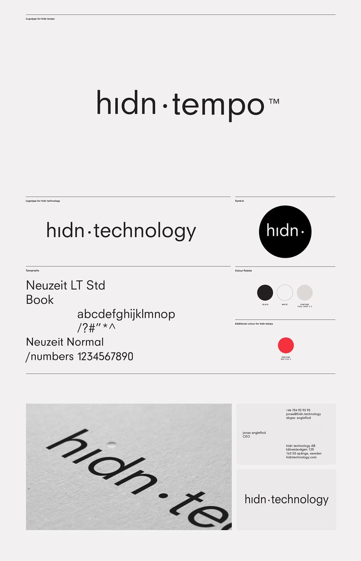 hidn technology Brand Identity on Behance