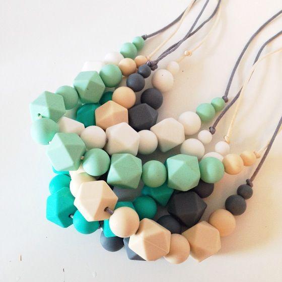 Image of 'Mumma Beads' teething necklaces