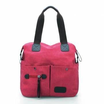 Ekphero Women Pillow Vintage Canvas Handbag