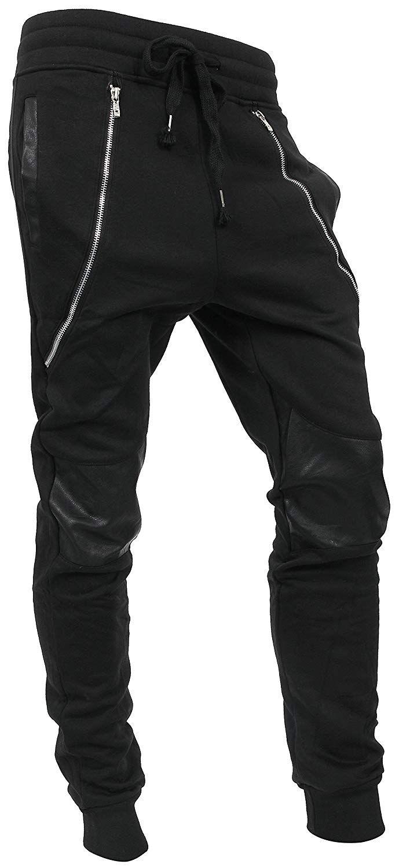 e2a680df44e888 Hat and Beyond WIV Mens Jogger Pants Biker Slim Fit Casual Fleece Active  Elastic 1VWA5001-18 at Amazon Men's Clothing store: