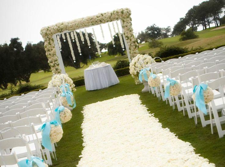 Tiffany blue and yellow wedding wedding planning for Ideas para boda en jardin