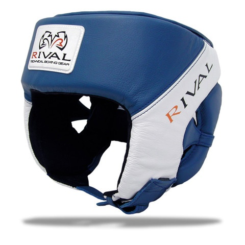 Rival RHGC1 Amateur competition headgear. USA Boxing Approved. BLue & White version