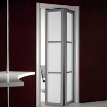 Single Interior Glass Doors White Obscure Bifold In Inspiration