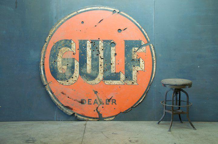 Vintage Gulf sign