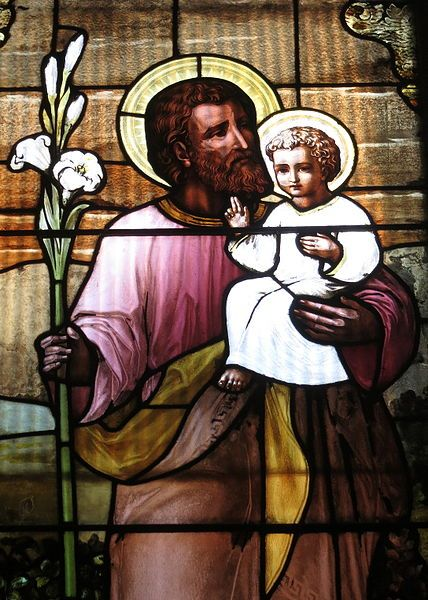 File:Saint Nicholas Catholic Church (Zanesville, Ohio) - stained glass, St. Joseph - detail, closeup.jpg