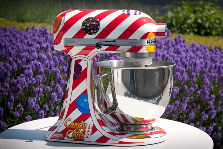 M!!!  We need one of these!! A candy crush kitchenaid!!