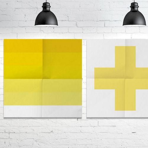 Stripe and Cross Yellow - Digital montage Object of Desire Art Gallery