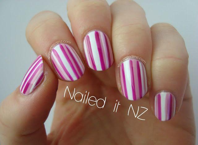 25 unique striped nail art ideas on pinterest hibiscus nail art easy striped nail art prinsesfo Gallery