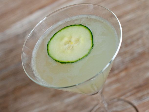 cucumber gimlet: gin, lime, rosemary, cucumber, and simple syrup