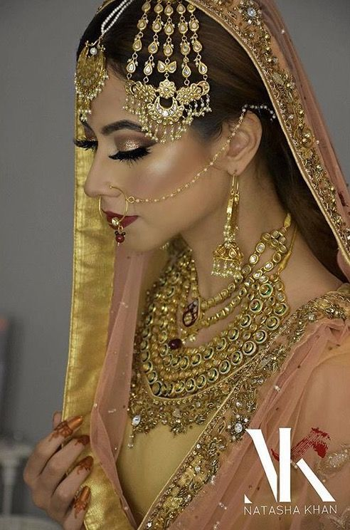 Pakistani bridal makeup by Natasha Khan
