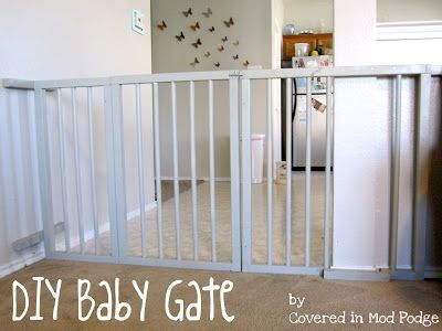 EASY PVC DIY baby gate! Finally found a good one! Plus this gal has other brilliant diy crafts!