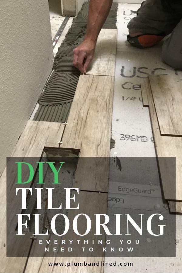 Diy Tile Flooring In 2020 Tile Floor Diy Diy Tile Ceramic Tile Floor Living Room