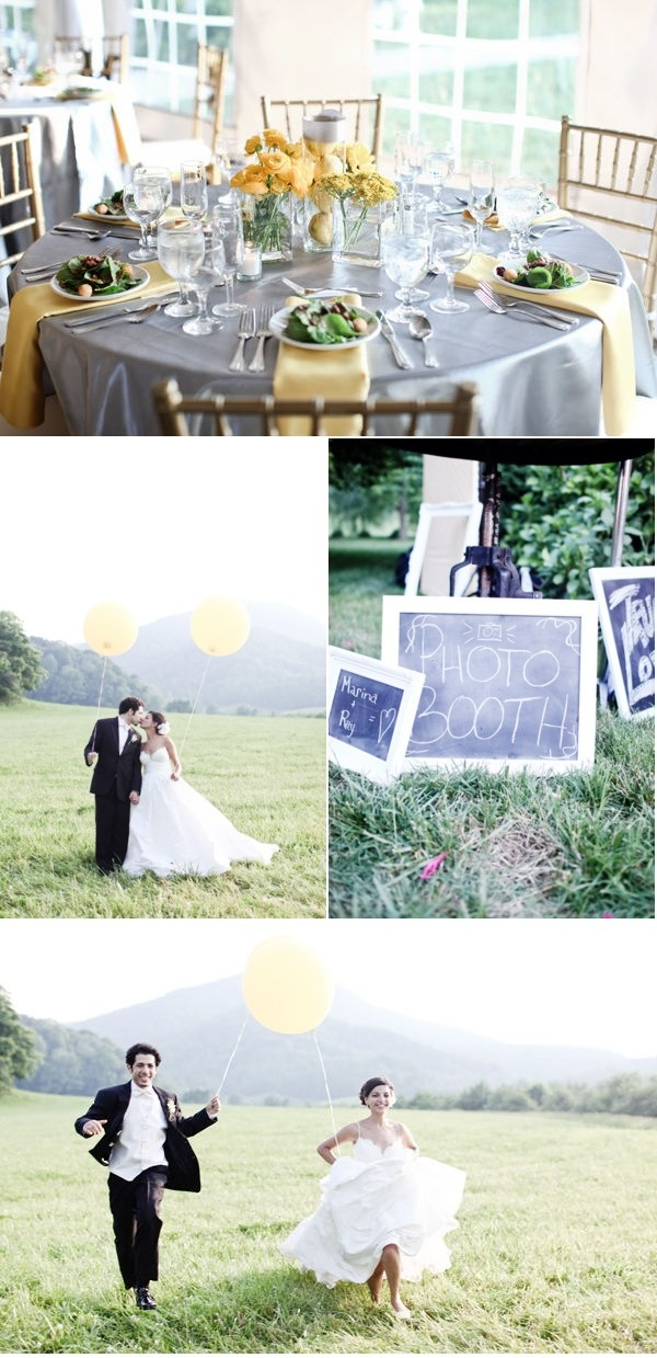 Yellow and White Outdoor Wedding