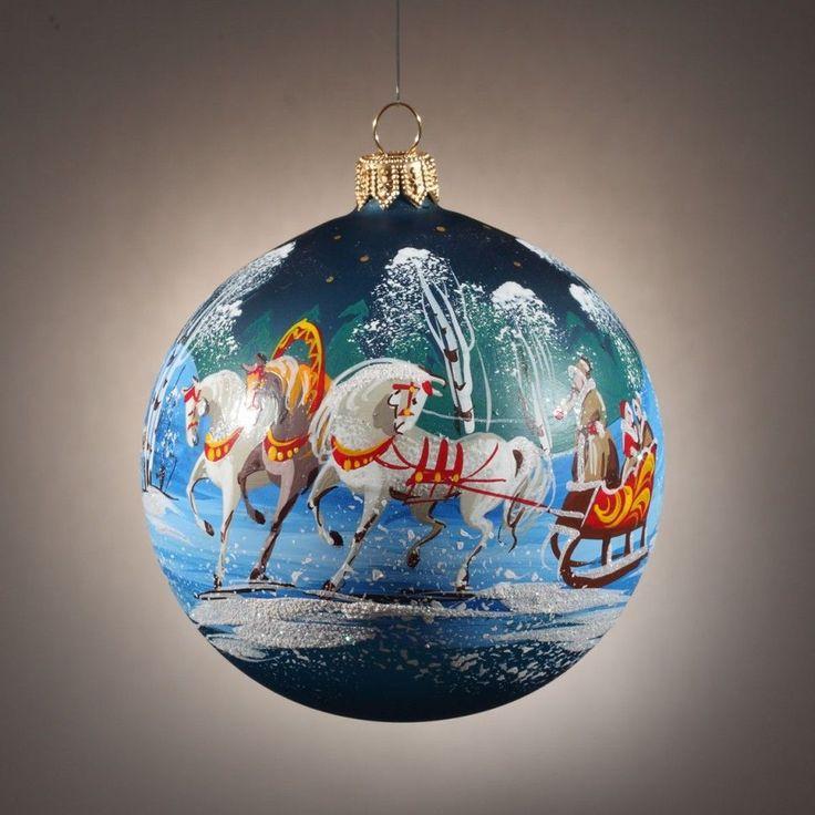 Figure glass ball christmas tree ornaments and christmas trees