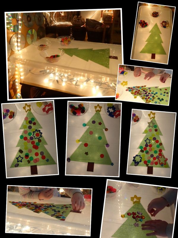 "Laminated tree on the lightbox - from Rachel ("",)"