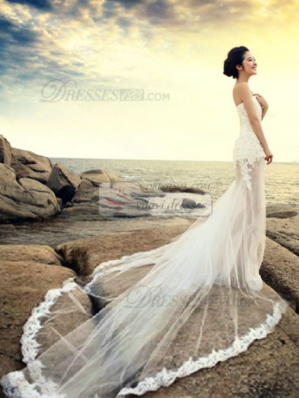 100%?Tailor-Made Mermaid Tube Top Strapless Semi Transparent Cathedral Train Lace Wedding Dresses Free?Shipping?Price:?US 330 -?VILAVI?Dresses, http://de.dresses123.com/mermaid-tube-top-strapless-semi-transparent-cathedral-train-lace-wedding-dresses-p-2552.html