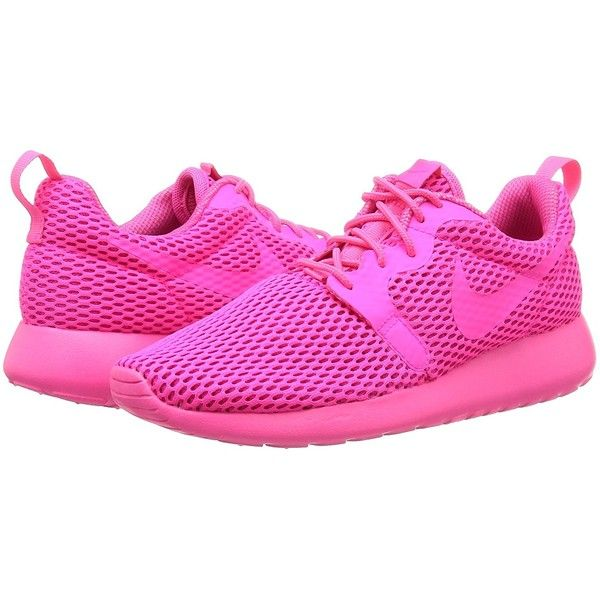Nike Women's Roshe One Hyp Br Running Shoe ($73) ❤ liked on Polyvore featuring shoes, athletic shoes, athletic running shoes, wide athletic shoes, nike, wide running shoes and wide fit shoes