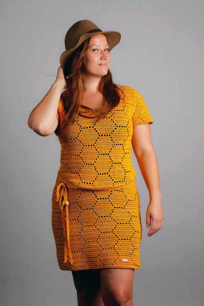 Queen Bee Jurk Haakpatroon Knitting Crochet Haken