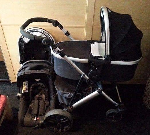 Tutti Bambini Riviera 3 in 1 travel system Pushchair Pram & car seat - black  #tuttiBambini