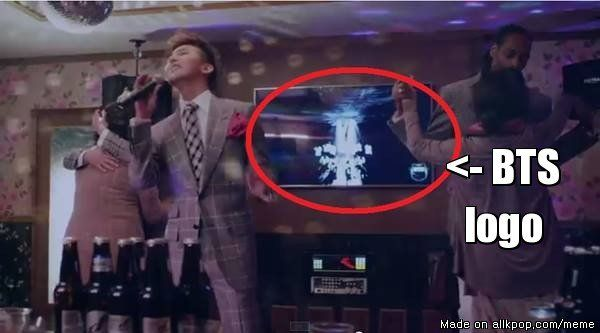 BTS Concept Trailer playing at PSY's Hangover music video