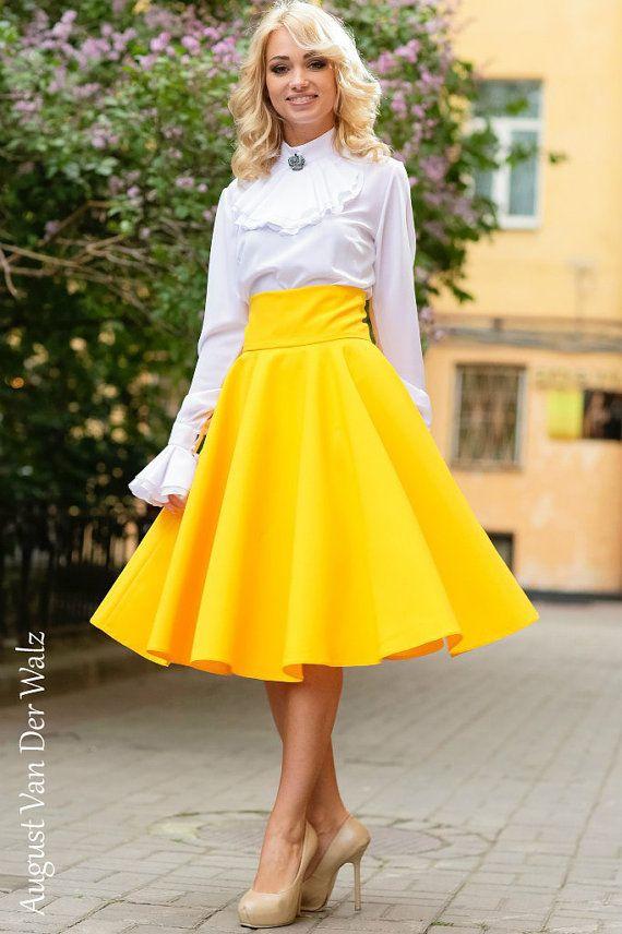 Yellow Maxi Skirt, Skirt with Pocket, circle skirt, Viscose,Cotton  / summer long skirt. Midi Skirt. plus size skirt available