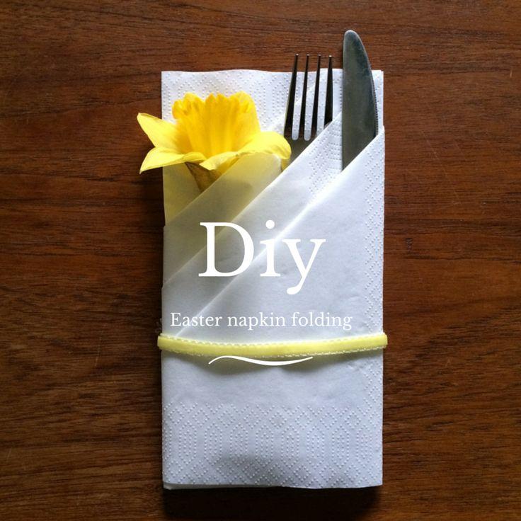 Servietfoldning med påskelilje - Maja Maagaard DIY Easter napkin folding