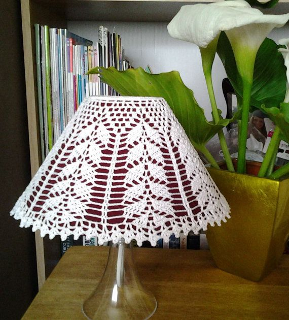 Crocheted LampShade cover A willow by LaisviakCrochet on Etsy, $14.95