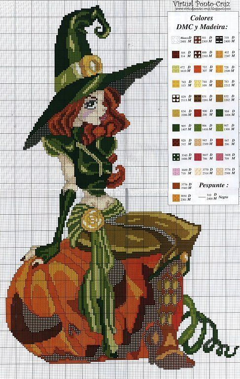 Point de croix *m@* Cross stitch angels, fairies, mermaids and witches cross stitch | Learn craft is facilisimo.com