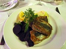 Fried Baltic herring is a popular and wholesome Finnish dish. It is usually accompanied with boiled or mashed potatoes.