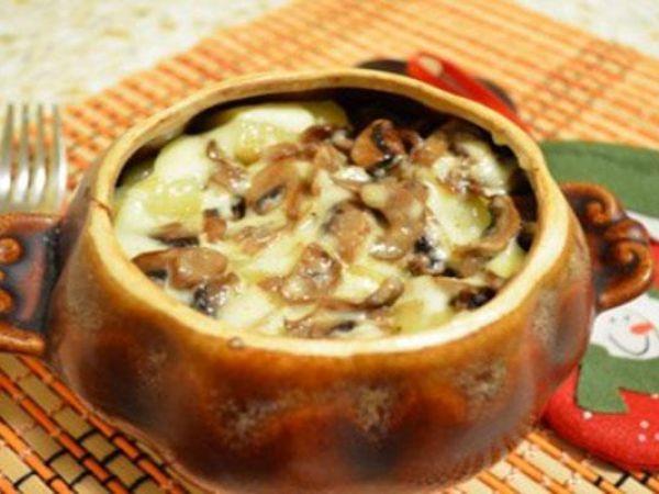 Гречка с грибами под сырной корочкой — vkusno.co