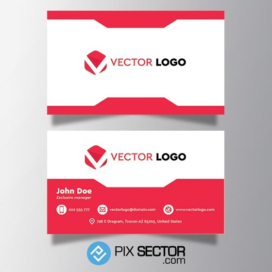 Modern corporate business card template. 1000+ awesome free vector images, psd templates, icons, photos, mock-ups and more!