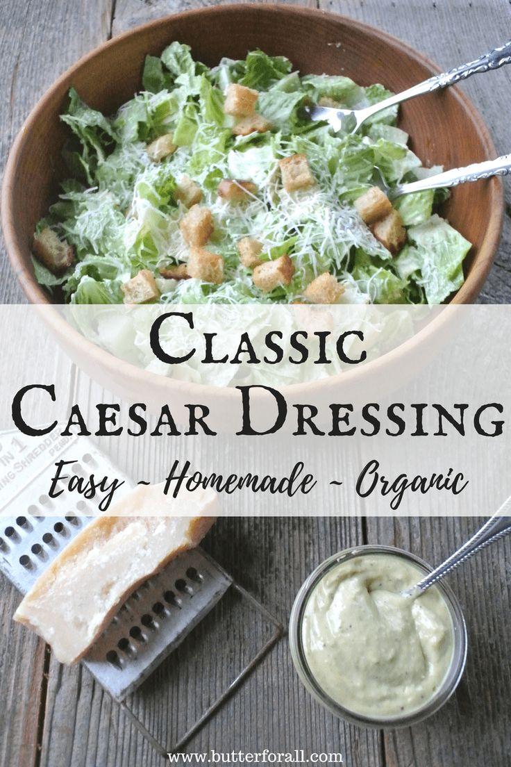 Das köstlichste klassische Caesar Salad Dressing, das mit …   – salad dressing