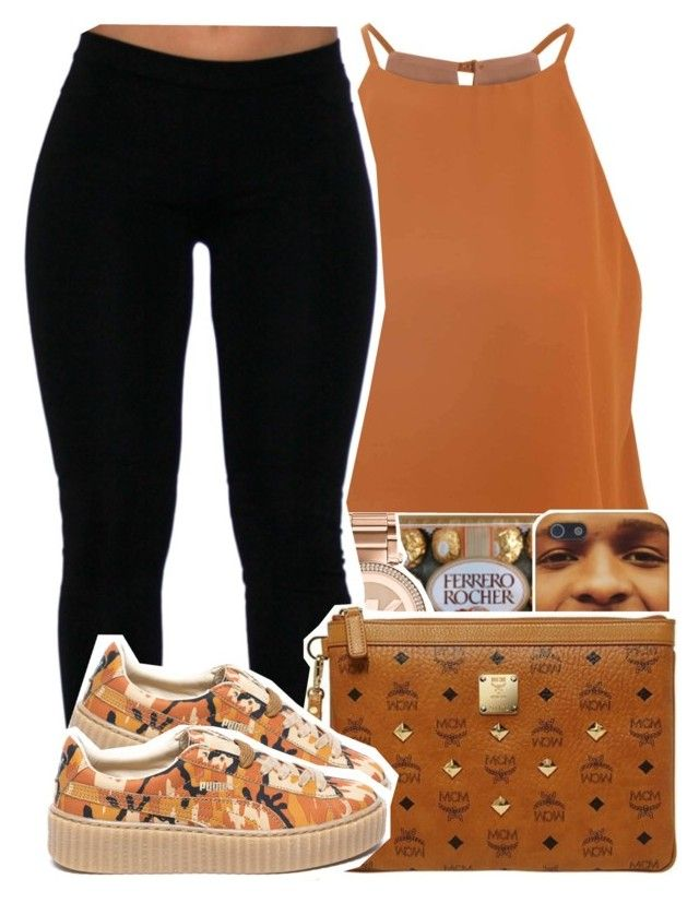 """U Don't Have To Call X Usher"" by desirenelle ❤ liked on Polyvore featuring Glamorous, Michael Kors, MCM and Puma"