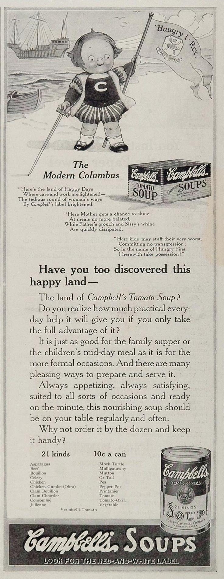 804 best Soup images on Pinterest   Vintage ads, Vintage ...