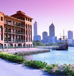 The old Swan Brewery on the Swan River foreshore Perth Western Australia