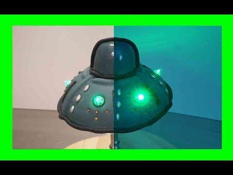 Leuchtende Ufo Torte - Fondant Ufo Kuchen mit Beleuchtung - Kuchenfee Lisa - YouTube