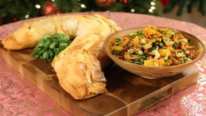 How to make the perfect Moroccan Vegetable Strudel by John Whaite on Food Network UK.