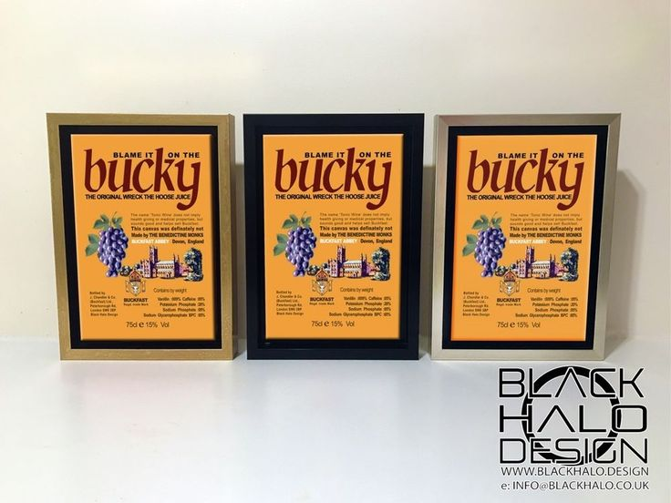 Buckfast Tonic Wine: Blame it on the Bucky timber framed canvas & floating frame